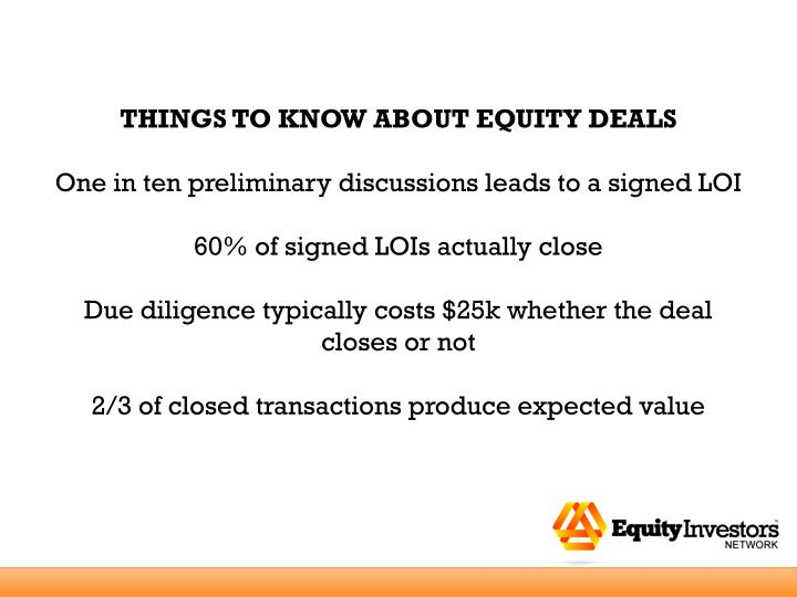 THINGS TO KNOW ABOUT EQUITY DEALS
