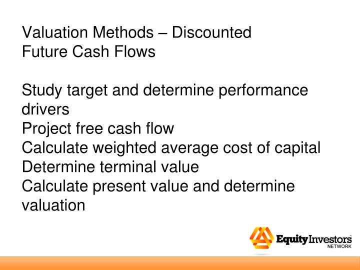 Valuation Methods – Discounted