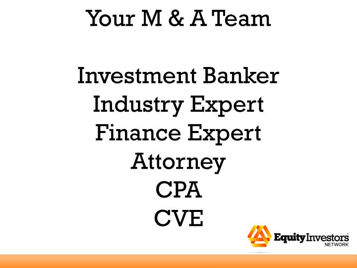 Your M & A Team