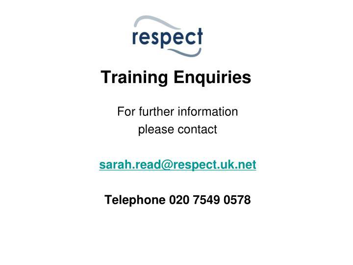 Training Enquiries