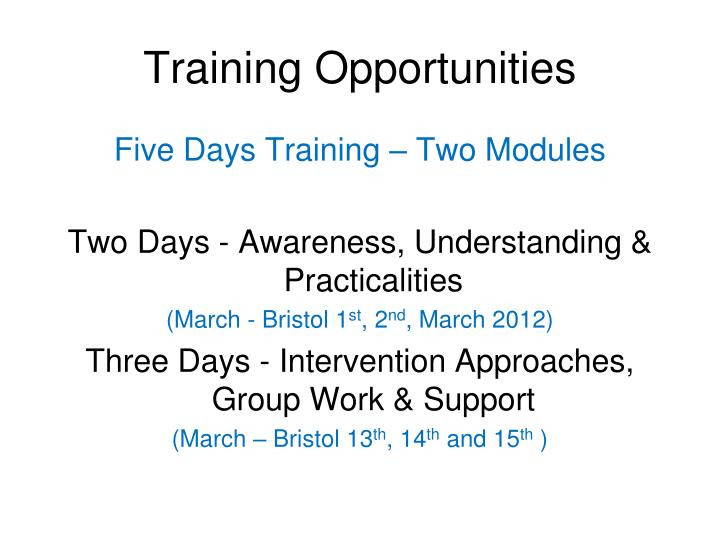 Training Opportunities