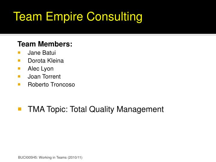 Team Empire Consulting