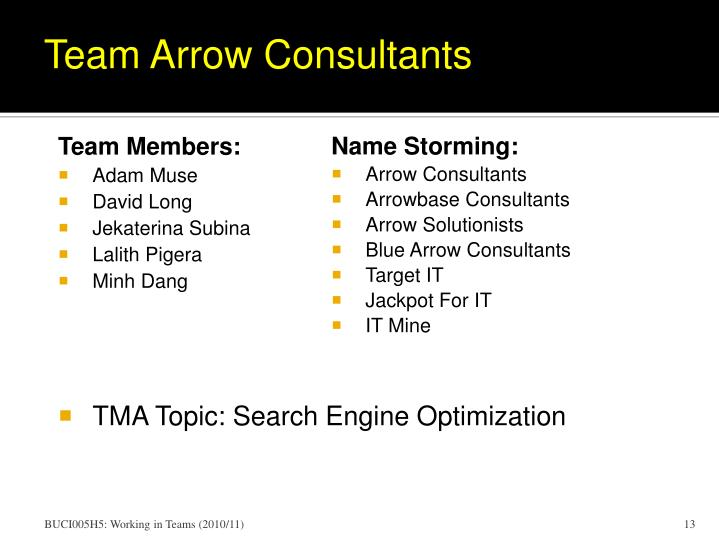 Team Arrow Consultants