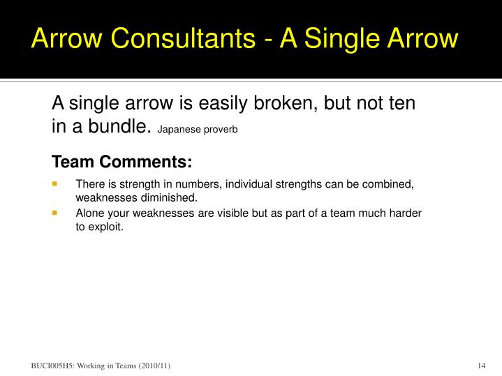 Arrow Consultants - A Single Arrow