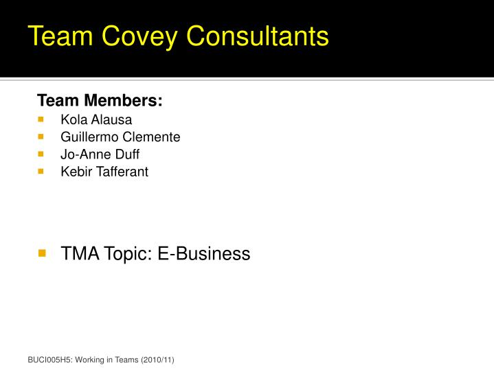 Team Covey Consultants