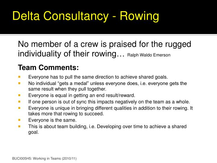 Delta Consultancy - Rowing