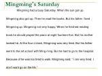 mingming s saturday