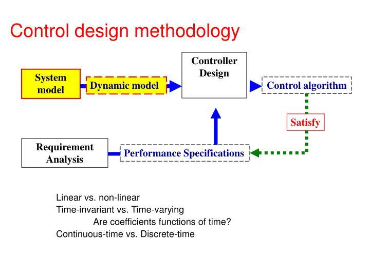 Control design methodology
