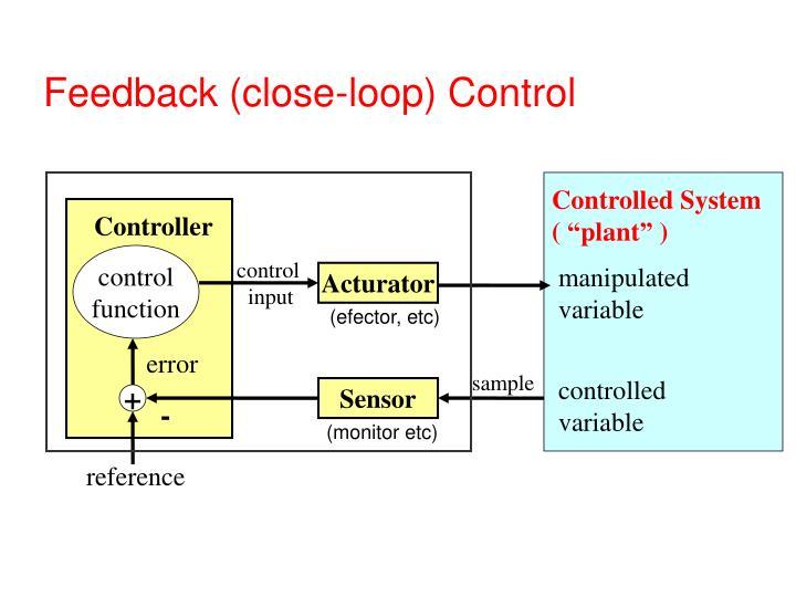 Feedback (close-loop) Control