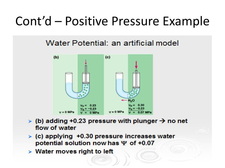 Cont'd – Positive Pressure Example