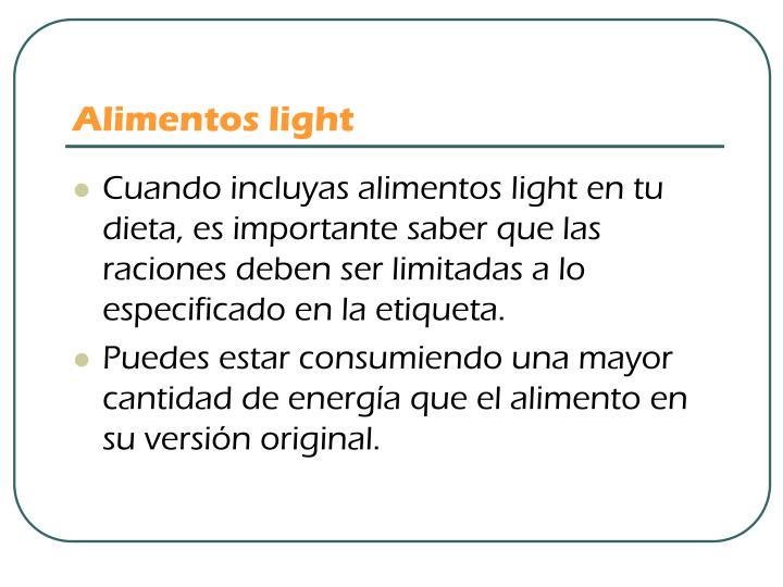 Alimentos light