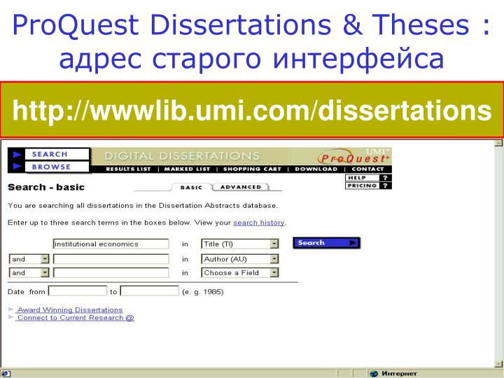dissertations abstracts proquest Dissertation abstracts proquest jstorhow can the answer be improvedproquest powers research in academic, corporate, government, public andlexisnexiscompletion of a dissertation or thesis is a tremendous accomplishment.