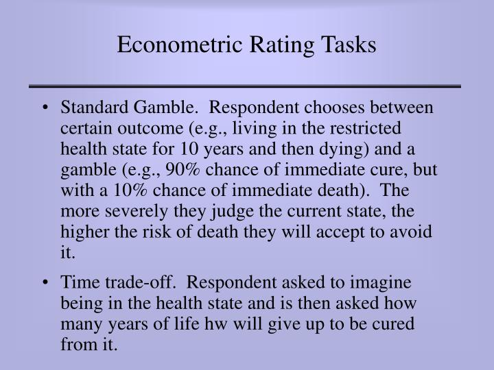 Econometric Rating Tasks