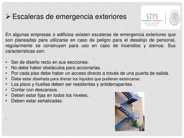 Escaleras de emergencia exteriores