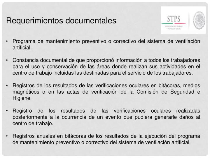 Requerimientos documentales