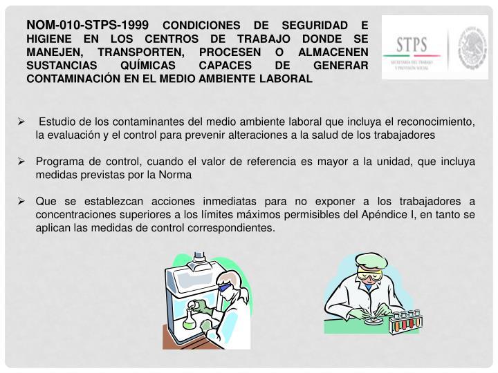 NOM-010-STPS-1999