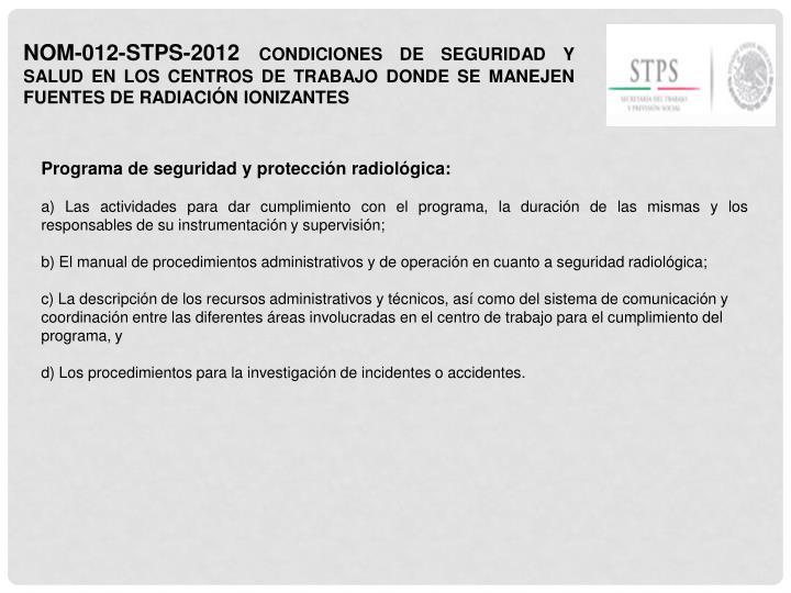 NOM-012-STPS-2012