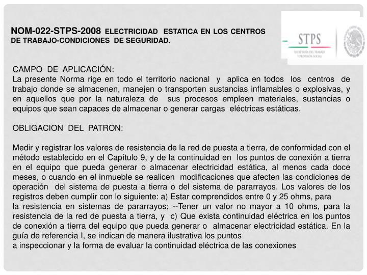 NOM-022-STPS-2008