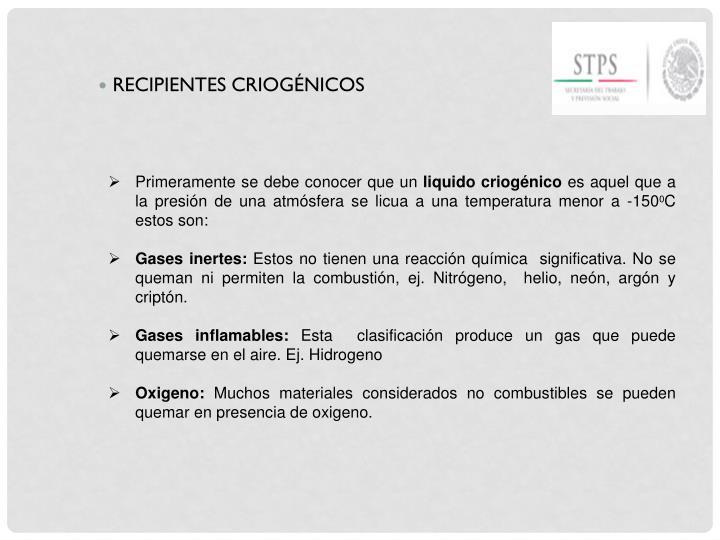 RECIPIENTES CRIOGÉNICOS