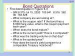 bond quotations