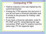 computing ytm