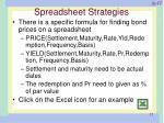 spreadsheet strategies