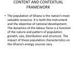content and contextual framework