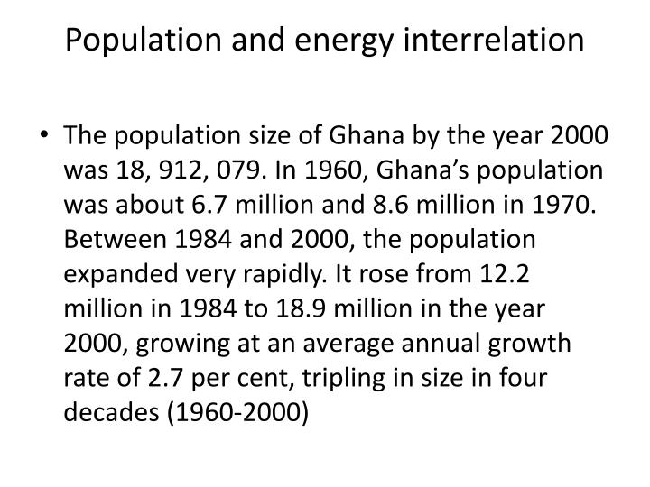 Population and energy interrelation