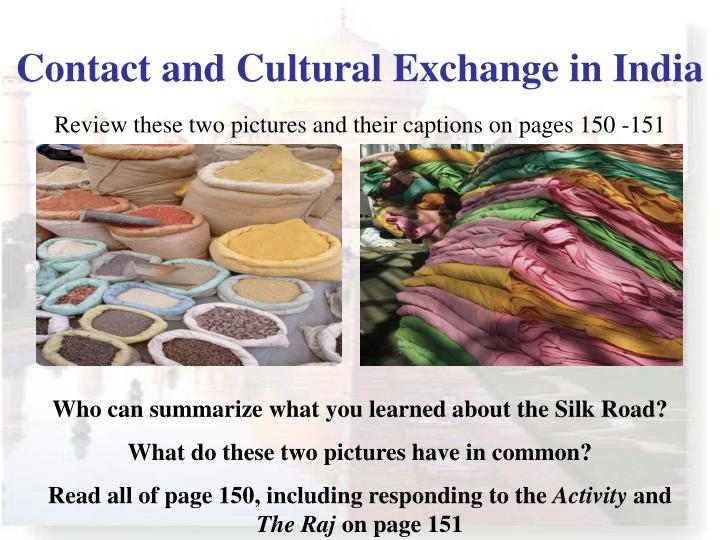 Contact and Cultural Exchange in India