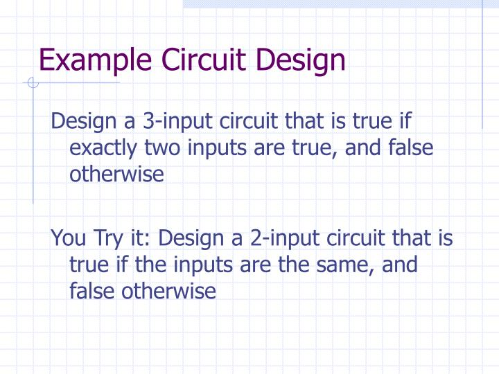 Example Circuit Design