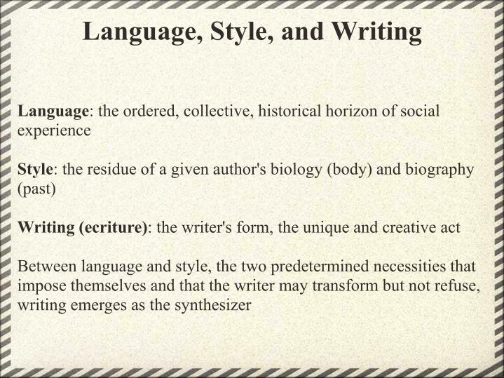 Language, Style, and Writing