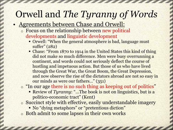 Agreements between Chase and Orwell: