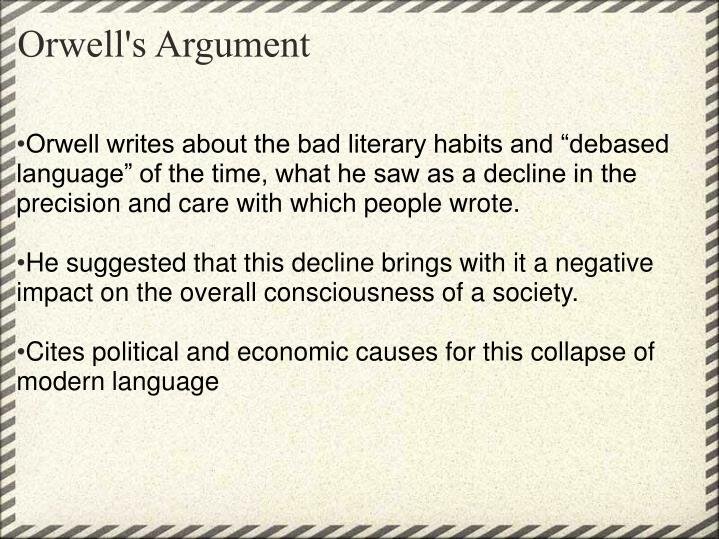 Orwell's Argument