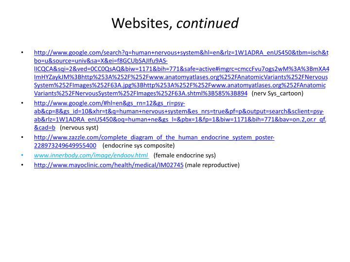 Websites,