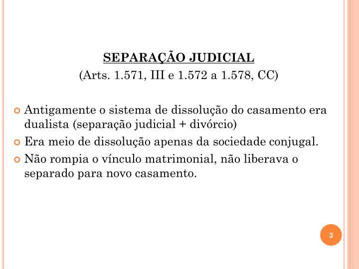SEPARAÇÃO JUDICIAL