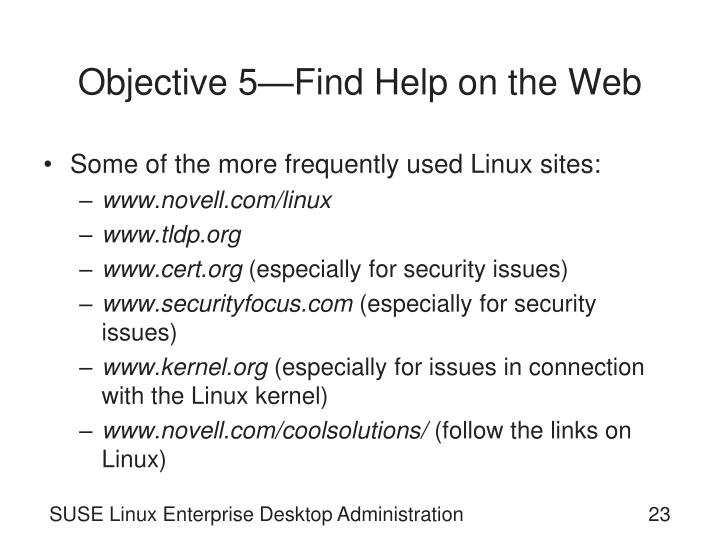 Objective 5—Find Help on the Web