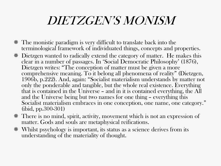 DIETZGEN'S MONISM