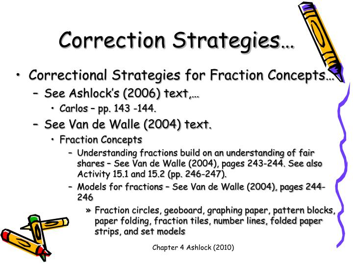 Correction Strategies…