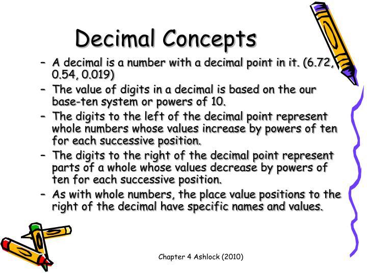 Decimal Concepts