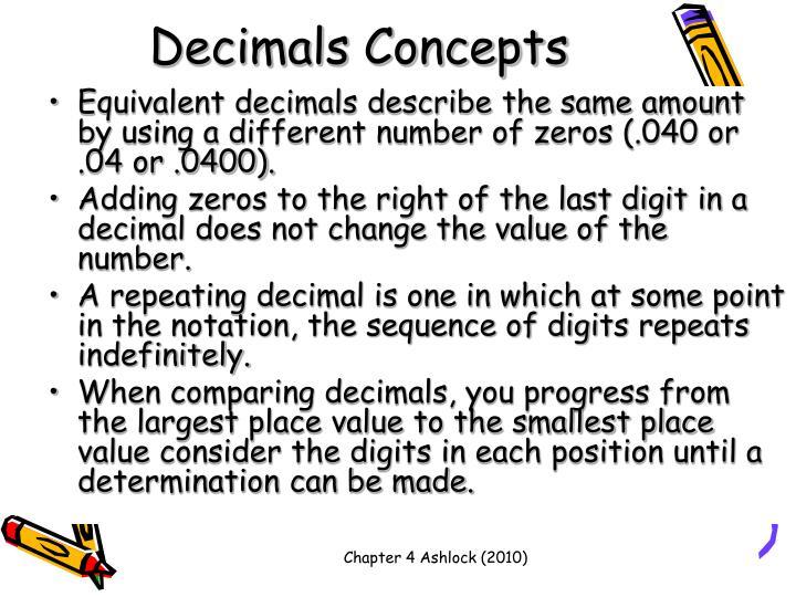 Decimals Concepts