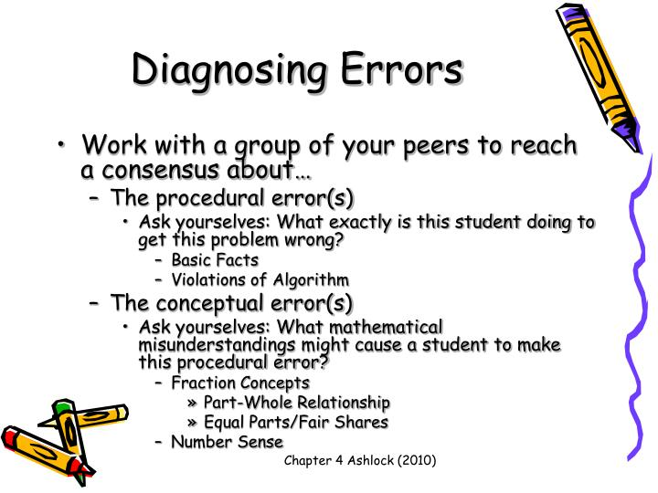 Diagnosing Errors
