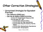 other correction strategies