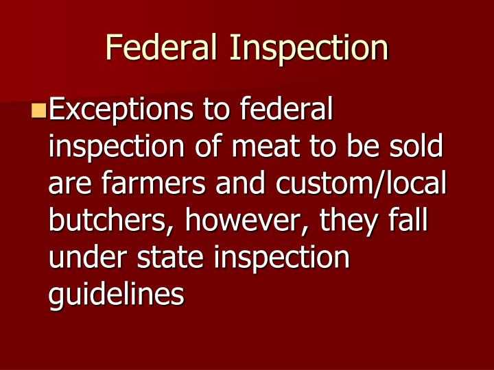 Federal Inspection