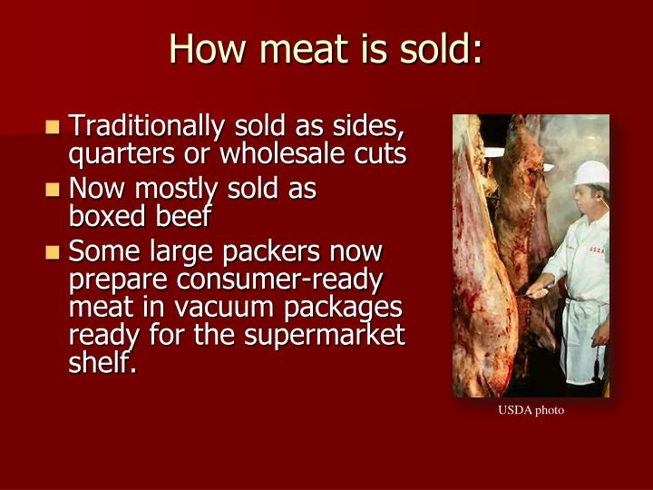 How meat is sold: