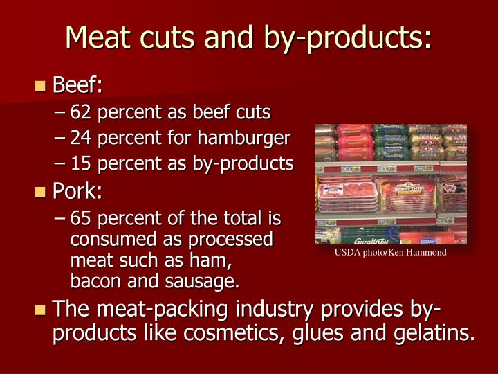 Meat cuts and by-products: