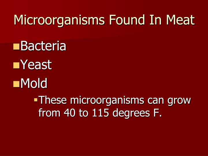 Microorganisms Found In Meat