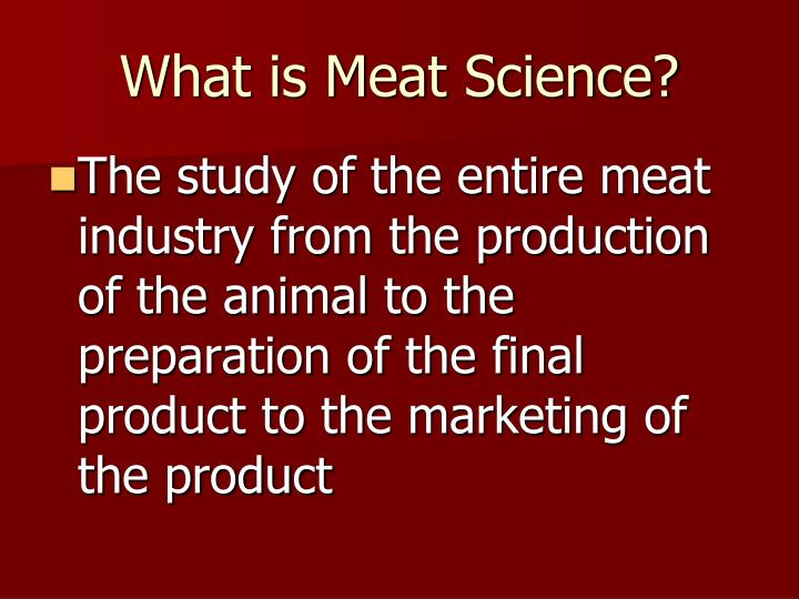 What is Meat Science?