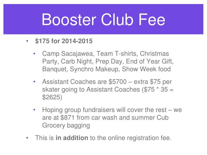 Booster Club Fee