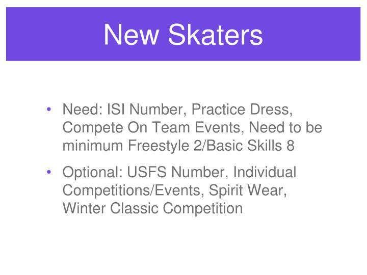 New Skaters