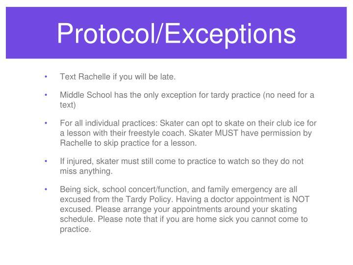 Protocol/Exceptions